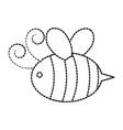 cute bee honey flying vector image