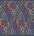 dark pattern with mess of hearts dots and shapes vector image vector image