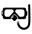 diving mask snorkel icon simple style vector image