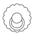 dummy pacifier outline icon