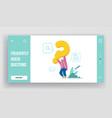 faq customer online service website landing page vector image vector image