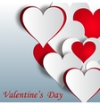 Festive background from hearts Greeting vector image vector image