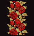 flower border realistic rose 3d vector image vector image