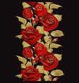 Flower border realistic rose 3d