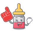 foam finger nassal drop mascot cartoon vector image