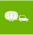 fun camper icon house on wheels car with van vector image