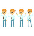 - funny cartoon guy with vector image vector image