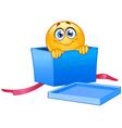 gift emoticon vector image