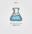 glass labs logo design vector image vector image