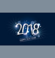glowing new year banner with silver inscription vector image