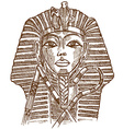 Golden mask of Egyptian pharaoh vector image