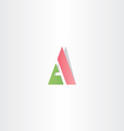 green red logotype letter a logo triangle icon vector image vector image