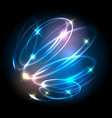 helix lighted lines abstract effects vector image vector image