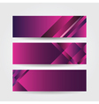 horizontal purple banners vector image vector image
