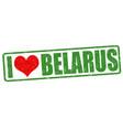 i love belarus stamp vector image