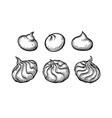 ink sketch meringue cookies vector image