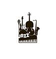 jazz festival emblem vector image vector image