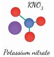 KNO3 Potassium nitrate molecule vector image vector image