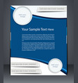 layout business flyer magazine cover vector image vector image