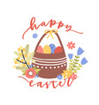 lovely postcard template with happy easter wish vector image vector image