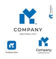 m letter technological construction logo modern vector image
