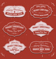merry christmas banners badges and frames vector image vector image