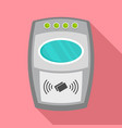 nfc payment wall device icon flat style vector image vector image