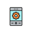 phone with gear smartphone repair vector image