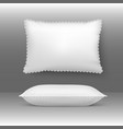 pillows cushion elegant white vector image