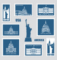 postage stamps with american symbols vector image vector image