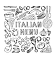 Restaurant cafe italian menu vector image