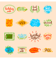 Sale Labels Set vector image
