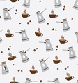 seamless pattern cute cup coffee and turkish vector image