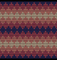 seamless violet squares knitting pattern vector image vector image