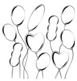 set of flat isolated white silhouettes of vector image