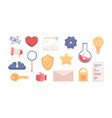 set science and laboratory cartoon icons vector image vector image