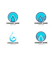 set water drop logo design element icon vector image