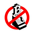stop calculation in bitcoin prohibition of vector image