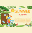 summer holidays horizontal banner vector image vector image