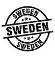 sweden black round grunge stamp vector image vector image