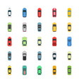 top view colorful cars flat icons vector image vector image