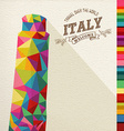 Travel Italy landmark polygonal monument vector image vector image