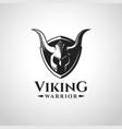 viking warrior logo and symbol vector image vector image