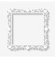 Vintage white frame background vector image vector image