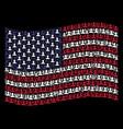 waving united states flag stylization of customer vector image