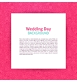 Wedding Day Paper Template vector image vector image