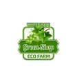white grape fruit green eco farm shop icon vector image vector image