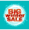 Winter sale words 3d red phrase vector image vector image