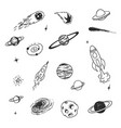 doodle space cosmic object vector image