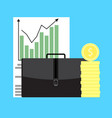 growth of business capital vector image